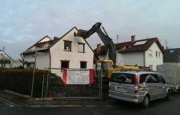 Abbruch Einfamilienhaus in Dreieich